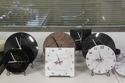 Marble Clock,Simple And Stylish Marble Clock,Personality Mute Wall Clock