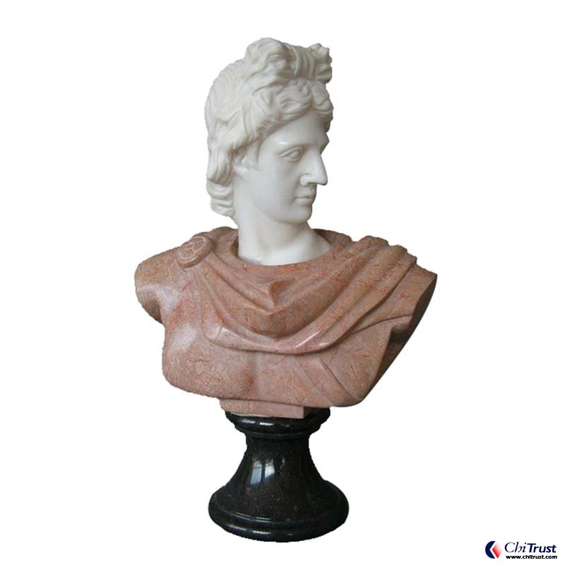 Hand carved white marble bust