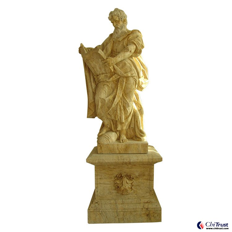 Hand carved stone cultured marble statue