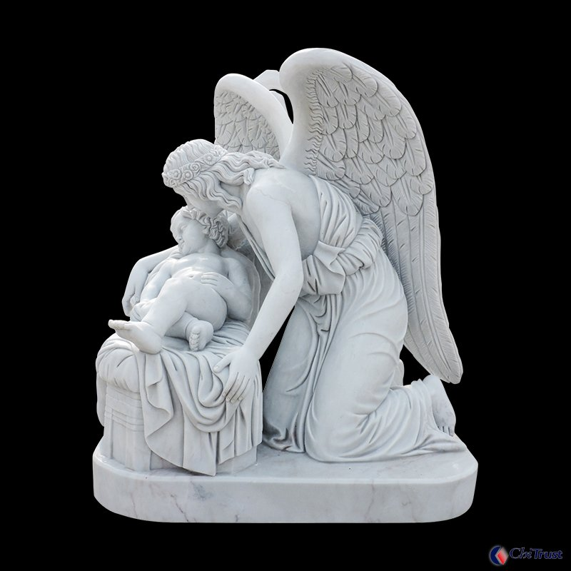 Manufacturer Marble decoration father and son statue