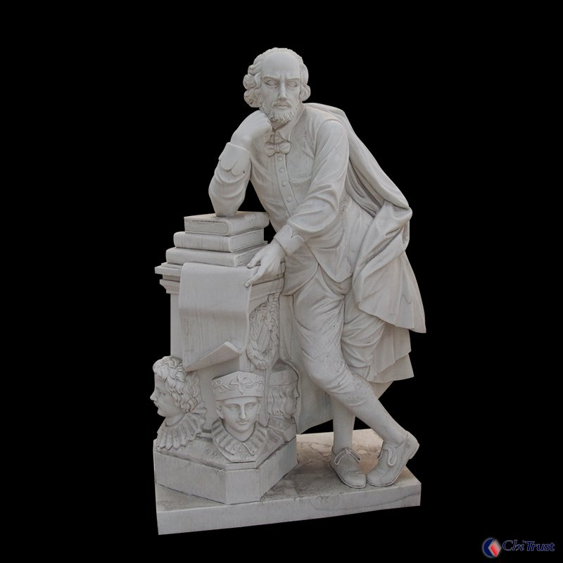 Philosopher White marble statue