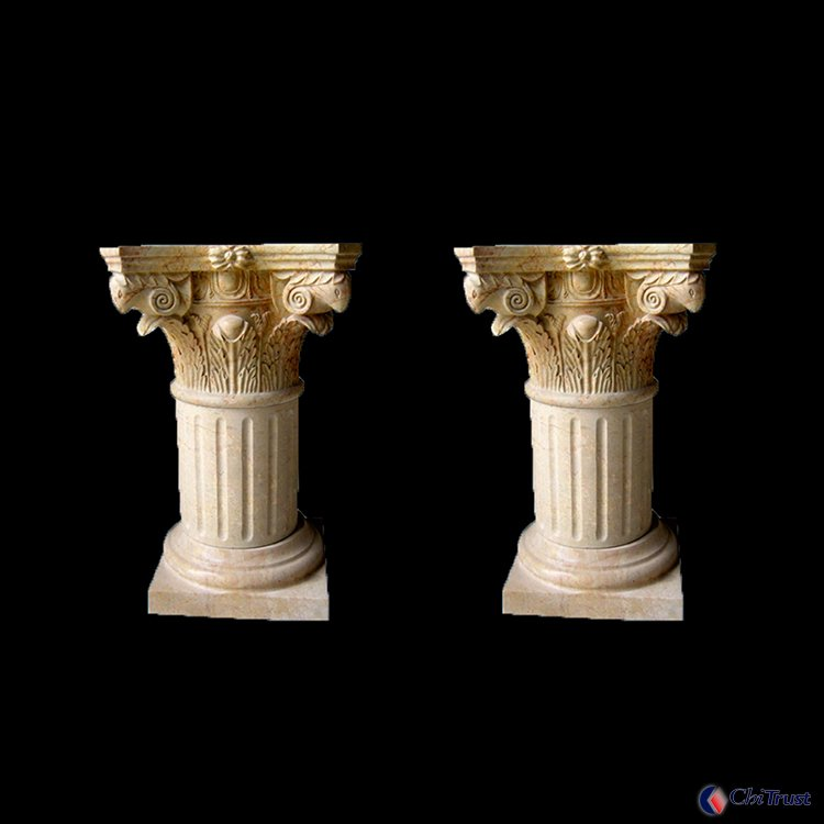 Hand carved nature stone column