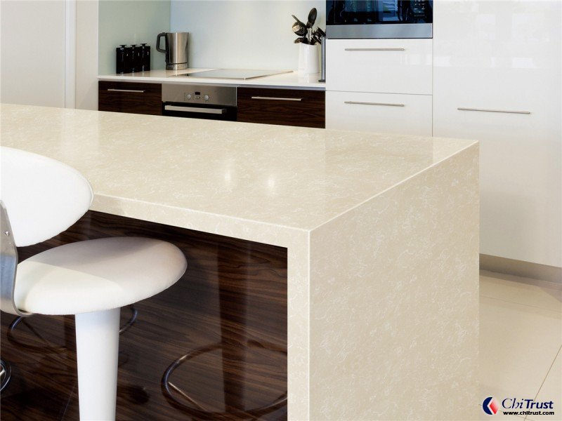 Artificial Quartz kitchen countertop